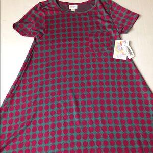 LuLa Roe NWT Carly Women Tunic Dress Short Sleeves